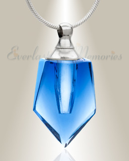 Glass Locket Dark Blue Dedicated Cremation Pendant