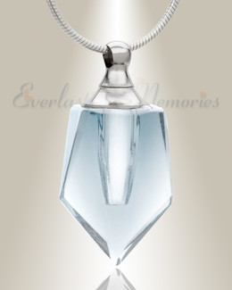 Glass Locket Clear Dedicated Cremains Jewelry