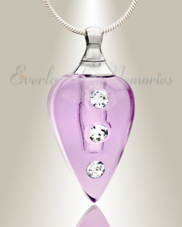 Glass Locket Violet Merriment Keepsake Pendant