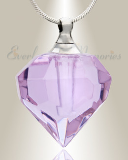 Glass Locket Violet Delight Cremation Jewelry