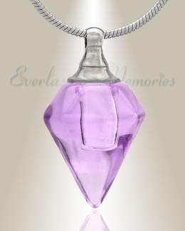 Glass Locket Violet Tops Cremation Jewelry
