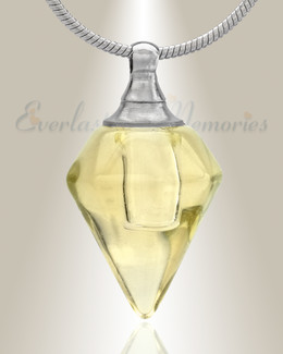Glass Locket Yellow Tops Cremation Jewelry