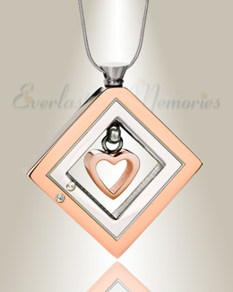 Enchanting Heart Urn Pendant