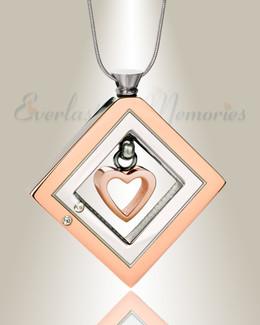 Enchanting Heart Urn Pendant