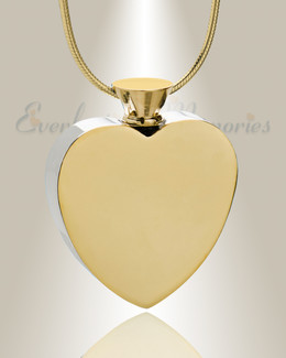 Gold Plated Everlasting Journey Urn Pendant