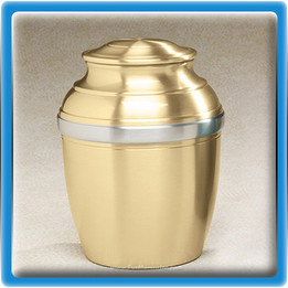 Gold Tranquil Bronze Urn