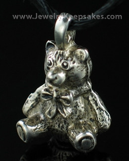 Pewter Teddy Bear Memorial Locket