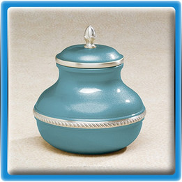 Blue Worship Cremation Urn