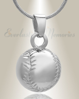 Sterling Silver Baseball Memorial Locket