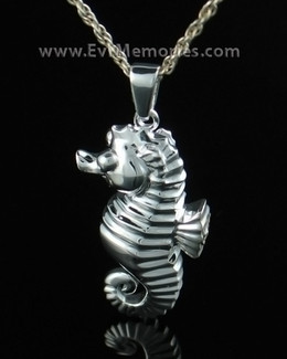 Sterling Silver Seahorse Cremation Urn Keepsake