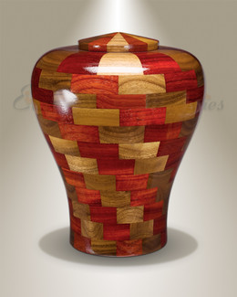 Large Tranquility Urn in Black Walnut & Padauk
