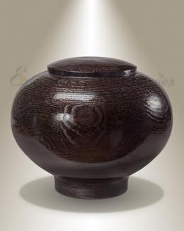 Large Peony Urn in Black