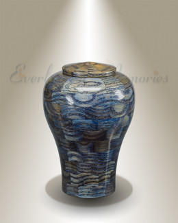 Small Lily Urn in Blue