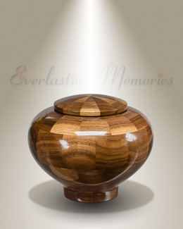 Small Wisdom Urn in Black Walnut