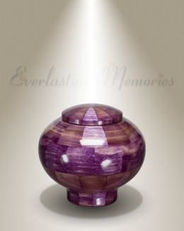 Peony Urn in Purple-Keepsake