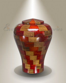 Small Tranquility Urn in Black Walnut & Padauk