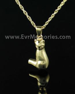 Gold Vermeil Cat Memorial Locket