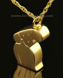 14k Gold Best Friend Dog Memorial Locket