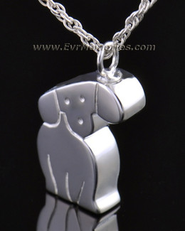 14k White Gold Best Friend Dog Memorial Locket