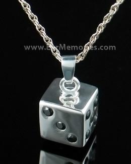 Sterling Silver Dice Cremation Urn Keepsake