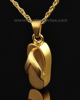 14K Gold Plated Beach Jewelry Urn