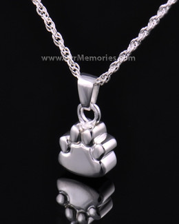 Silver Lil Paw Cremation Keepsake