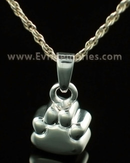 14K White Gold Lil Paw Urn Keepsake