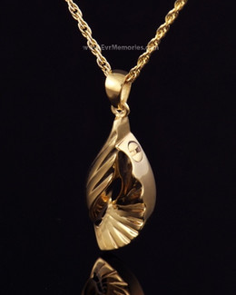 Gold Plated Winged Memorial Jewelry