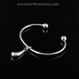 Sterling Silver Teardrop Cremation Bracelet