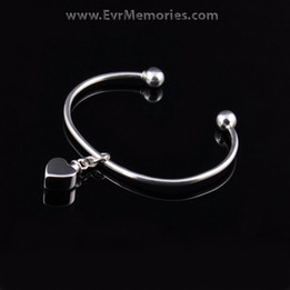 Sterling Silver Small Heart Cremation Bracelet