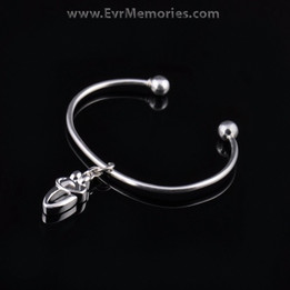 Sterling Silver True Companion Cremation Bracelet