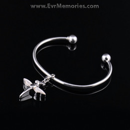 Sterling Silver Pearly Dragon Cremation Bracelet