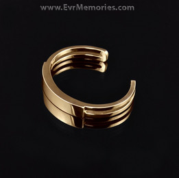 Gold Plated Men's Elegance Cuff Cremation Bracelet