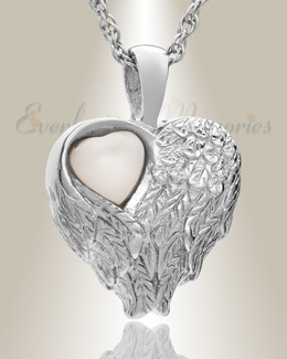 Sterling Silver Heart of Love Ash Pendant