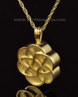 14k Gold Celtic Flower Cremation Keepsake