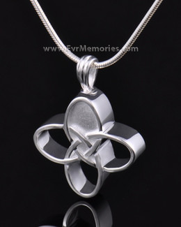Sterling Silver Celtic Cherished Cross Urn Pendant