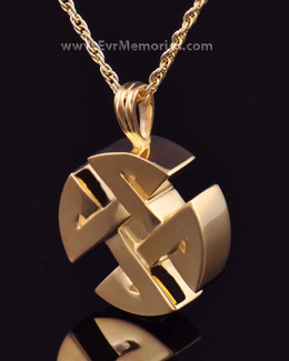 Gold Plated Celtic Cherished Round Memorial Jewelry