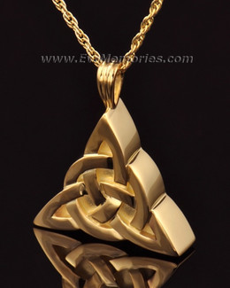 14k Gold Celtic Cherished Triangle Keepsake Jewelry