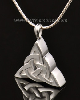 14k White Gold Celtic Cherished Triangle Keepsake Jewelry