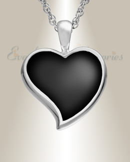 14k White Gold Knighted Heart Remembrance Jewelry