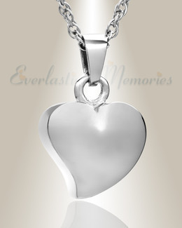 14k White Gold Dear Heart Ash Jewelry