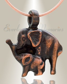 Night Elephants Cremation Jewelry