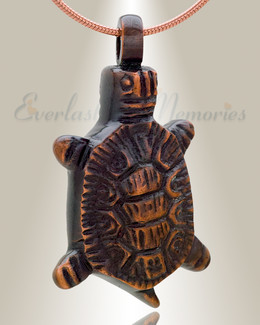 Burnished Turtle Memorial Ash Keepsake