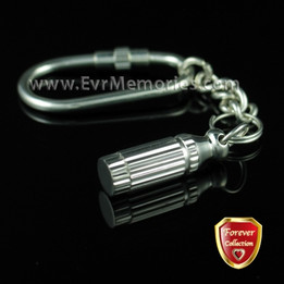 Forever Collection Distinguished Cylinder Keychain Memorial Jewelry