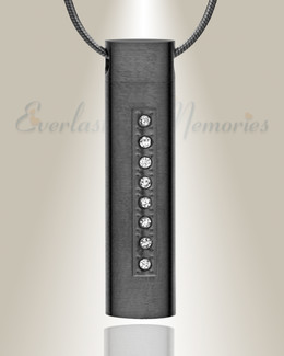 Forever Collection Black Plated Prince Cremation Pendant