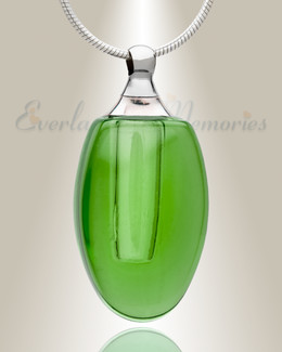 Glass Locket Emerald Evermore Cremains Jewelry