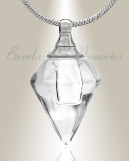 Glass Locket Clear Tops Cremation Jewelry