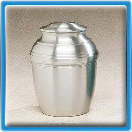 Silver Tranquil Pewter Urn