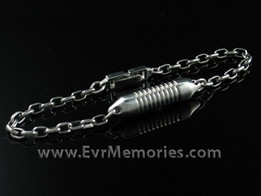 Titanium Cremation Urn Keepsake Bracelet - Wide Band