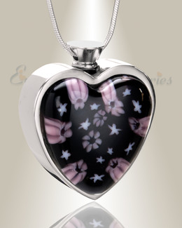 Time of Admiration Heart Cremation Locket